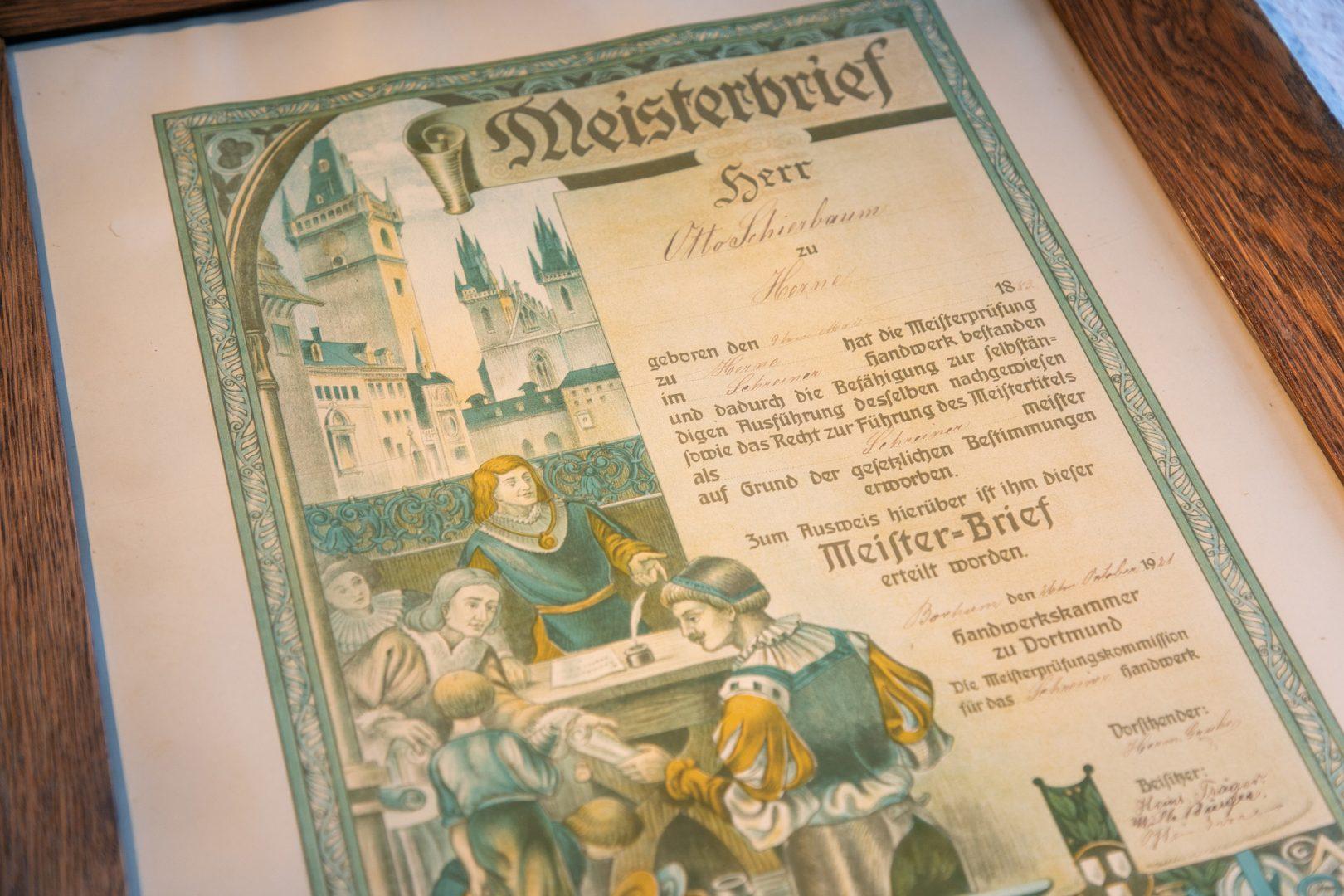 Beerdigungsinstitut Schierbaum Meisterbrief